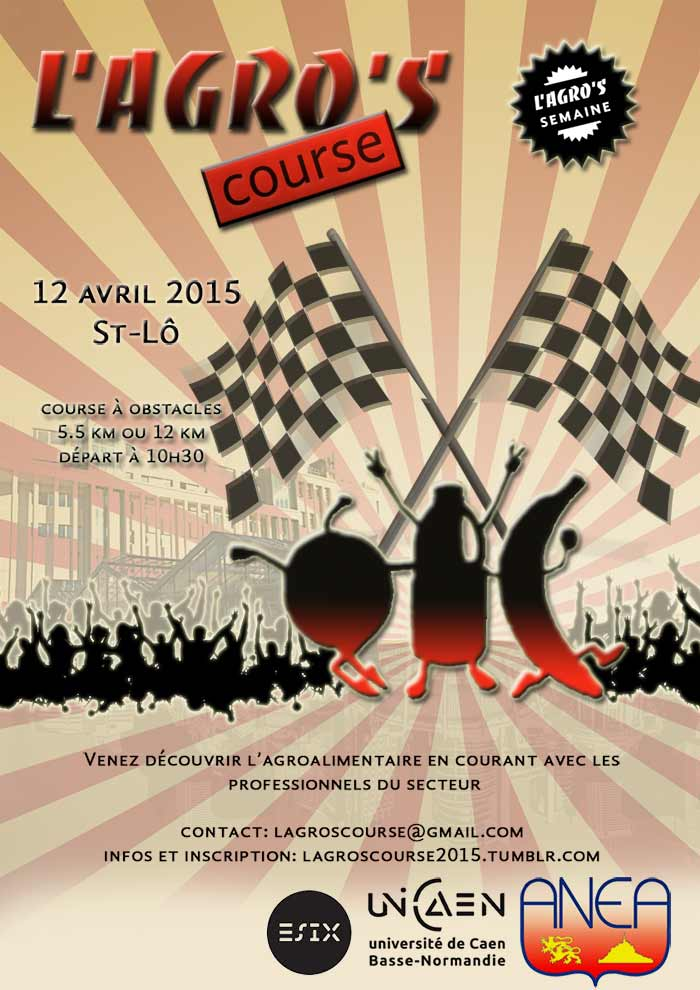 affiche agro's course